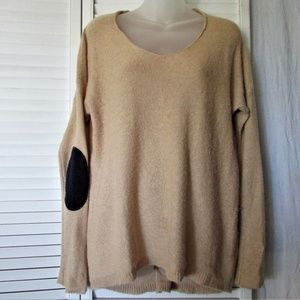 GAP camel navy elbow patches sweater M